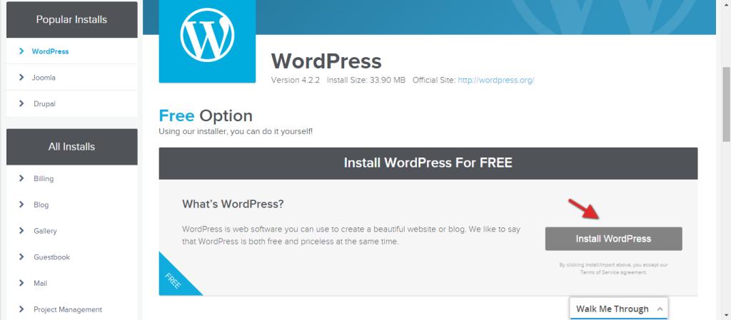 Quick-Install-wordpress