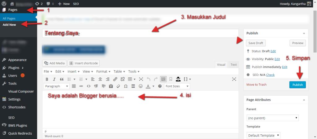 membuat-page-wordpress