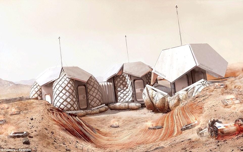Regolith yang telah menyatu akan menciptakan perisai permanen yang melindungi pemukiman dari radiasi yang berlebihan serta suhu luar yang ekstrim.