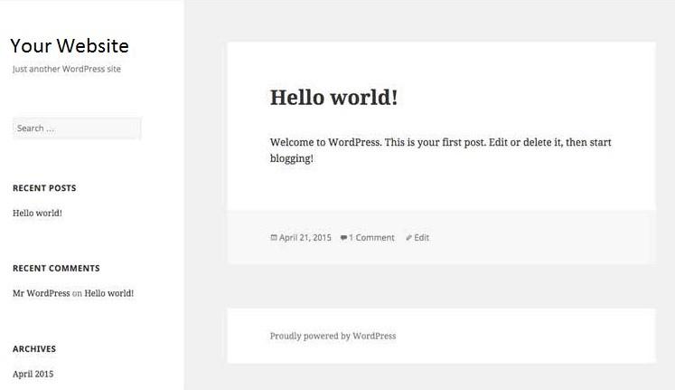 tampilan-default-wordpress